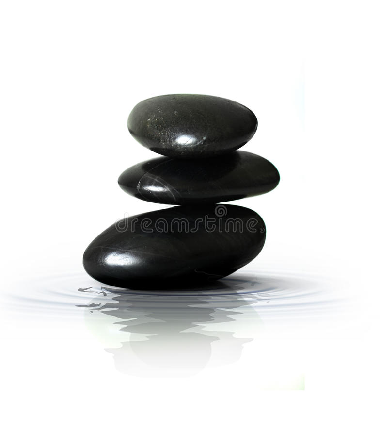 Zen Black Stones royalty free stock photo