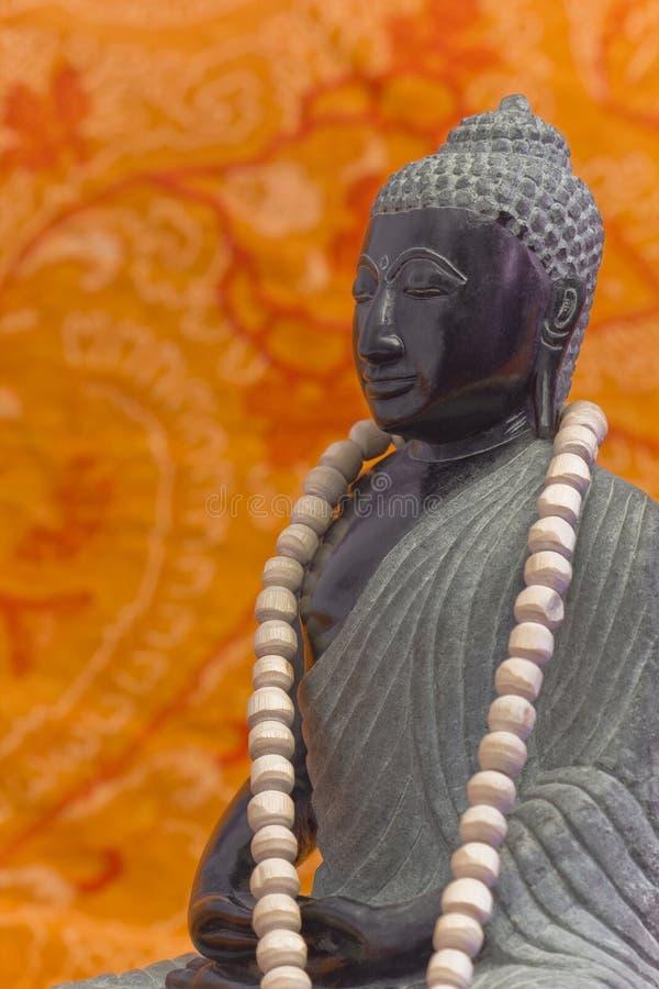 ZEN Buddha czerń 2 fotografia royalty free