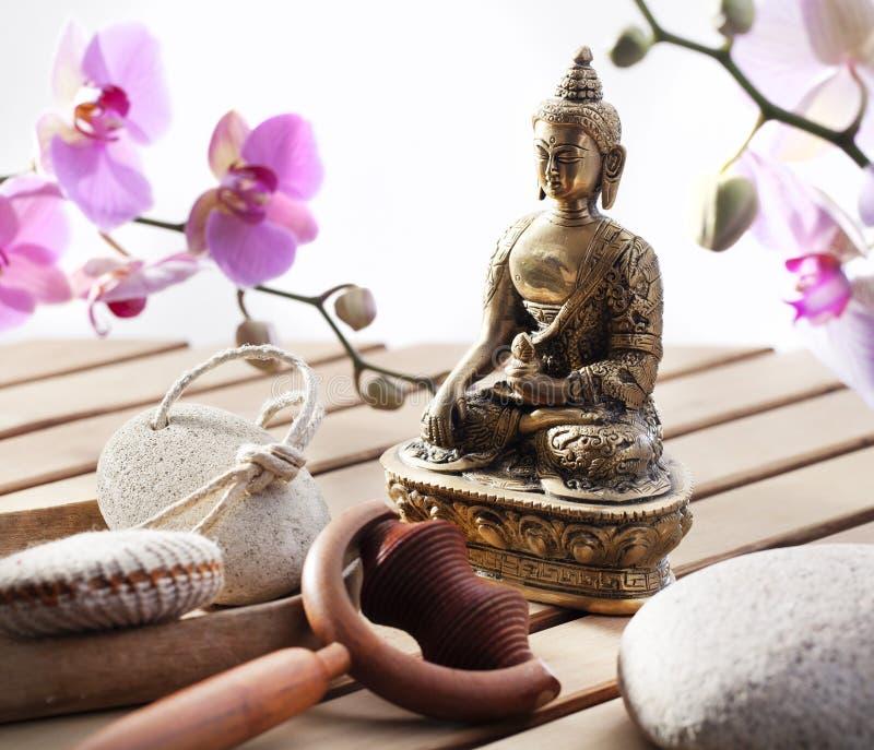 Zen Buddha för harmoni och serenitet royaltyfri foto