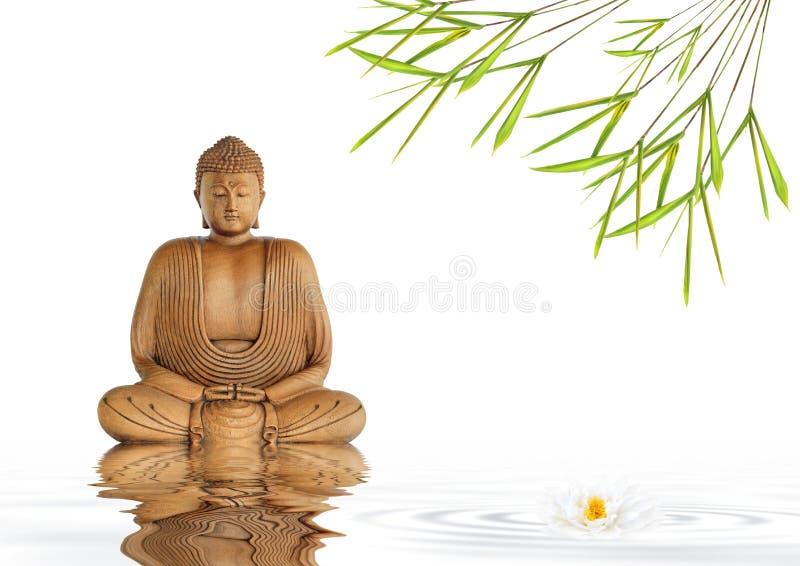 Zen Buddha Silence royalty free stock photos
