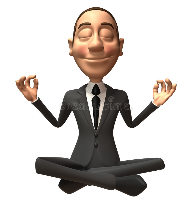 Download Zen businessman stock illustration. Illustration of good - 5225150