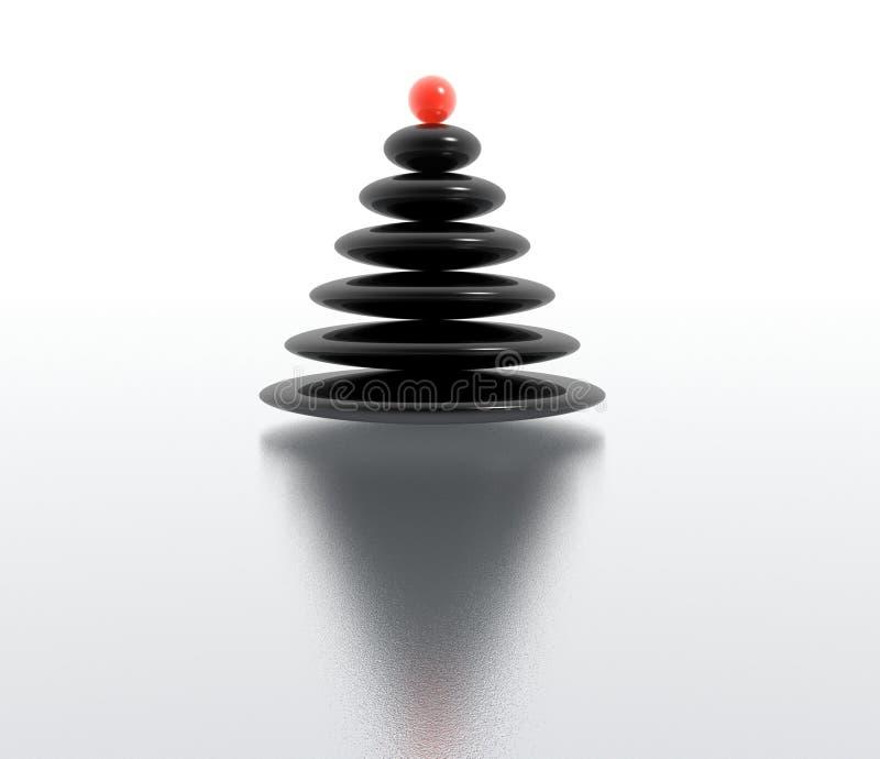 Zen christmas tree vector illustration