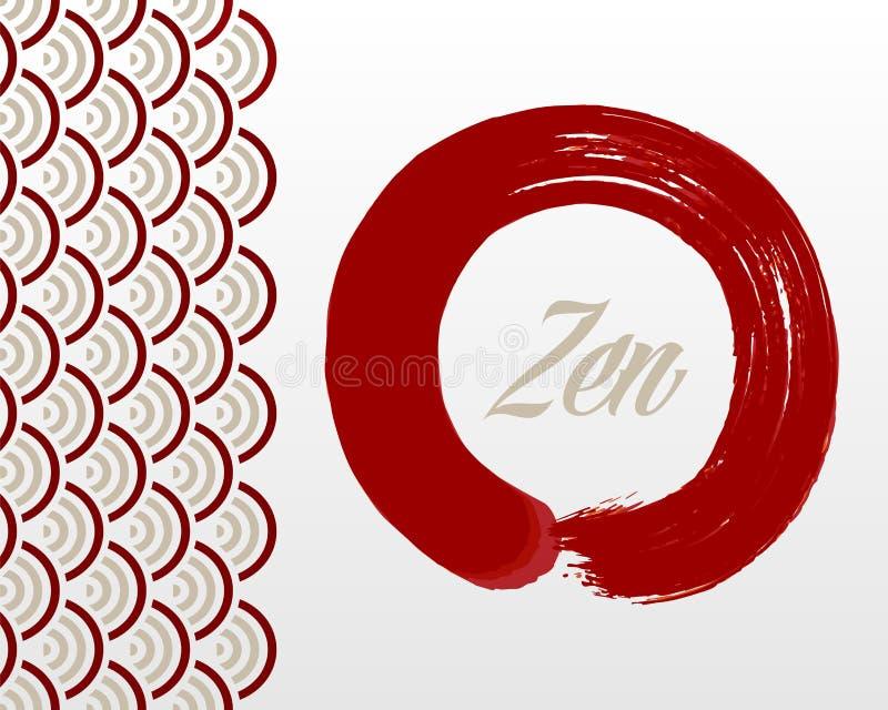 Zen circle background vector illustration