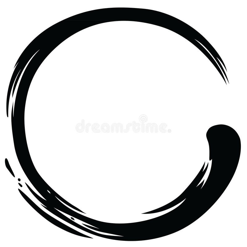 Zen Circle Paint Brush Stroke Vector stock photo