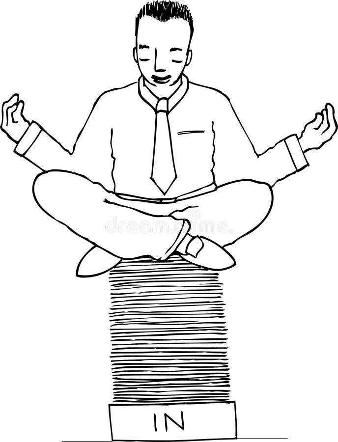Zen d'affaires illustration stock