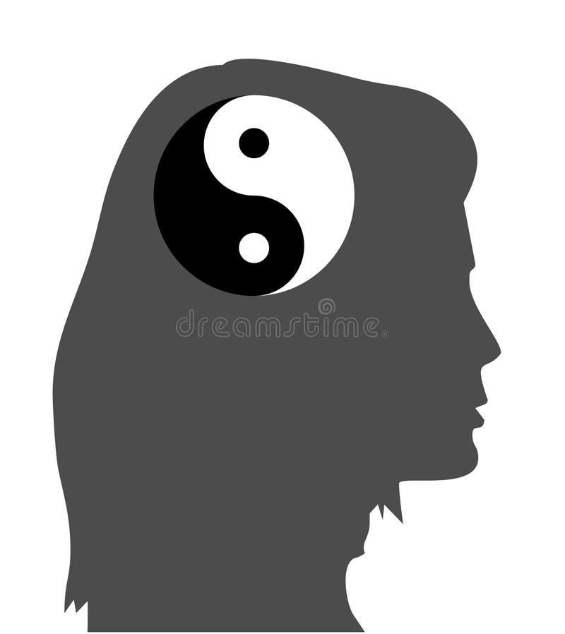 zen d'esprit d'idée d'équanimité illustration libre de droits