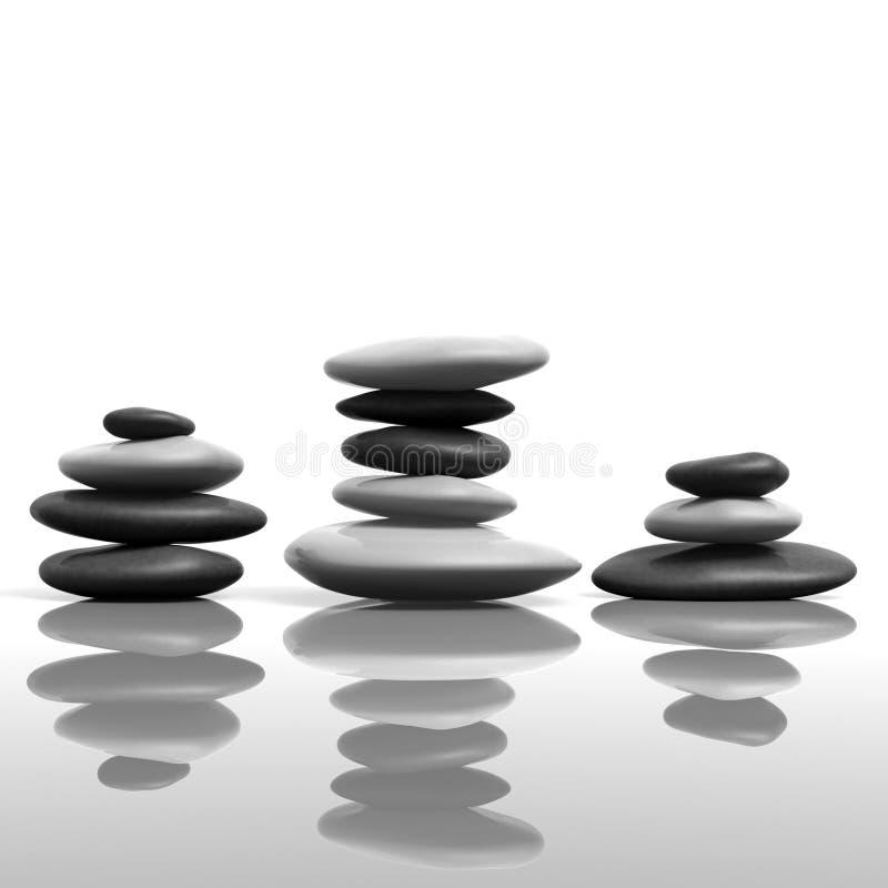 Zen, das Steine stapelt lizenzfreie abbildung