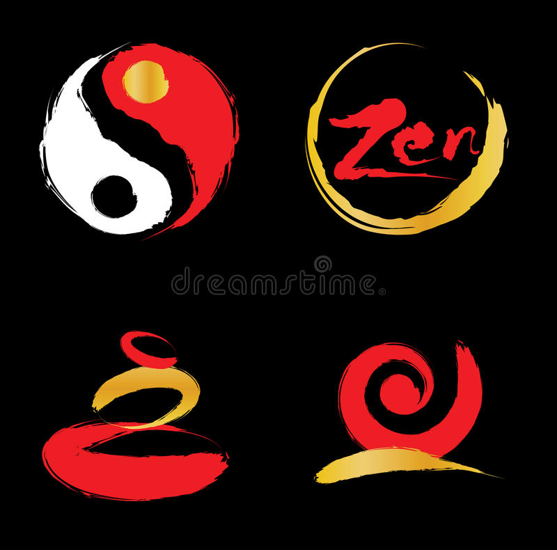 zen de logo illustration libre de droits