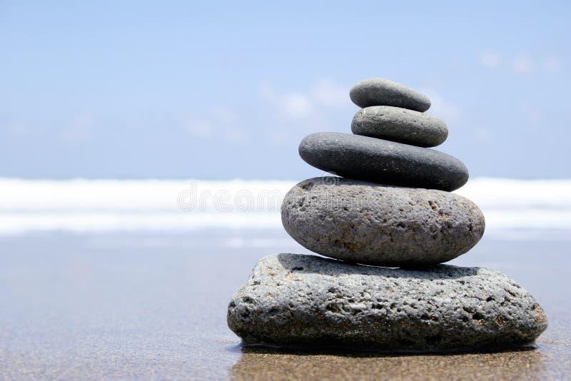 Zen della spiaggia immagini stock