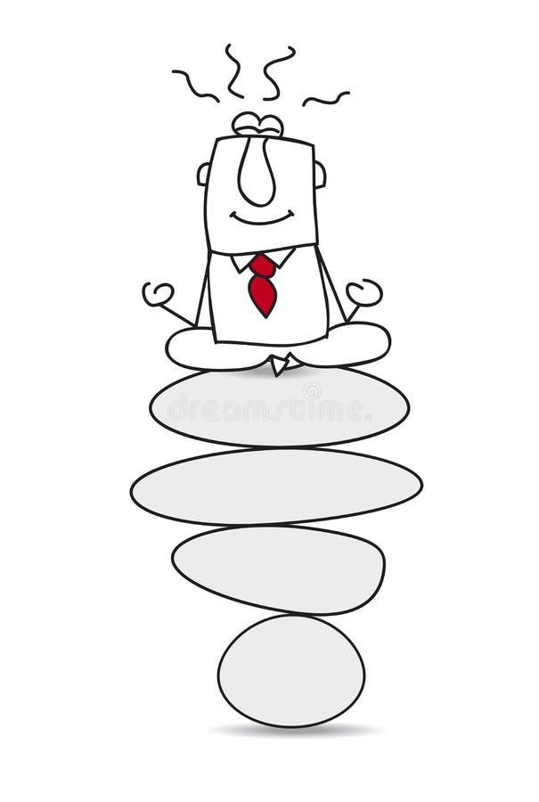 Zen e meditação ilustração royalty free