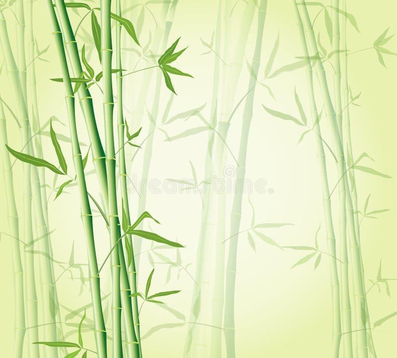 zen för skog för bakgrundsbambubegrepp royaltyfri illustrationer