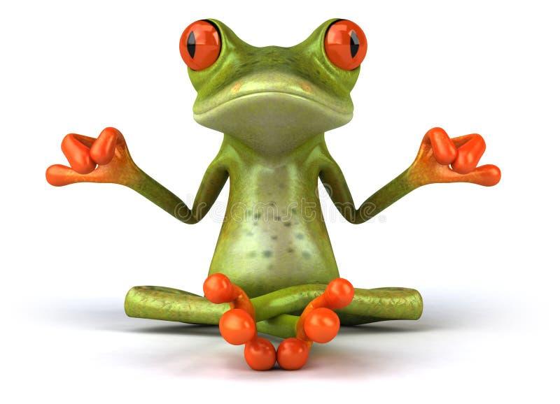 Zen frog stock illustration