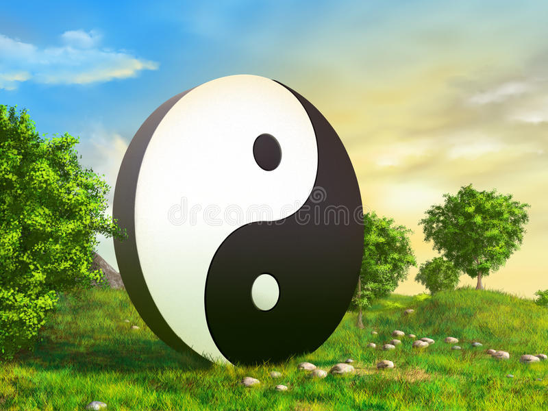 Zen garden vector illustration