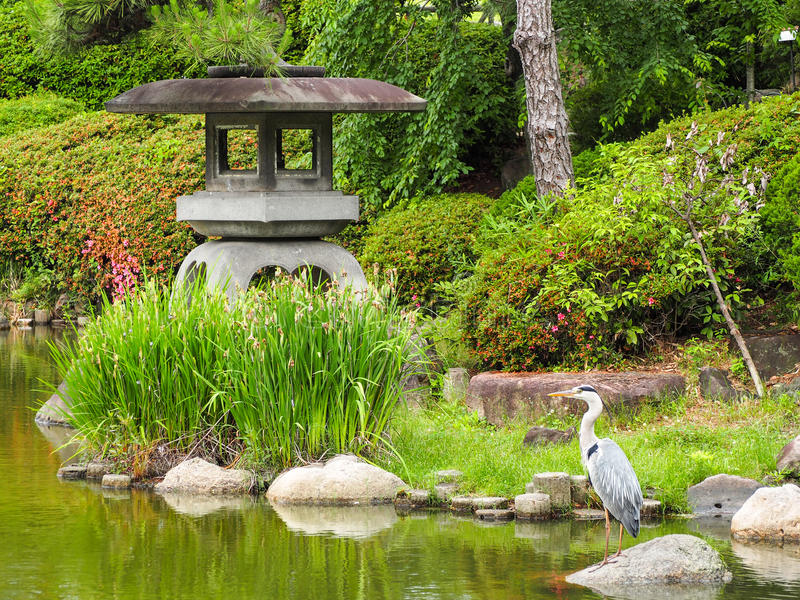 Zen Garden em Osaka imagens de stock royalty free
