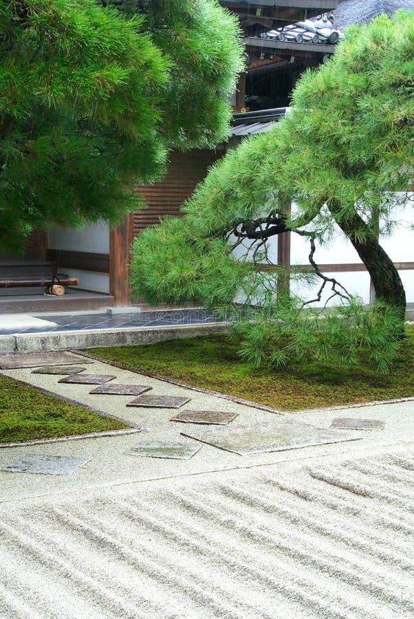 Zen Garden. A Zen garden at Ginkakuji Temple in Kyoto Japan stock photo