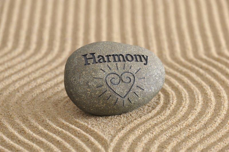 Zen garden in harmony royalty free stock photography