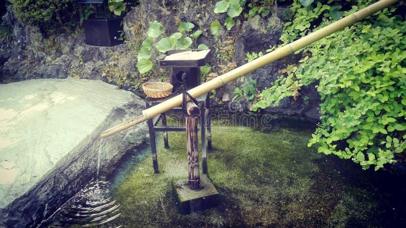 Zen garden in Japan stock photo