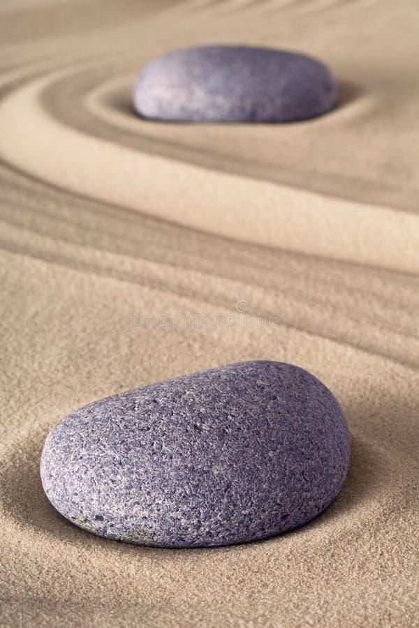 Zen garden meditation stone stock photography