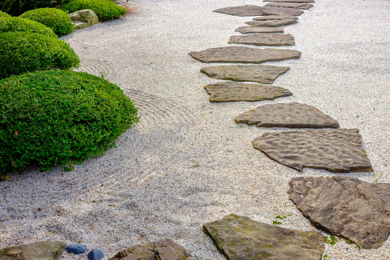 Zen garden path royalty free stock photo
