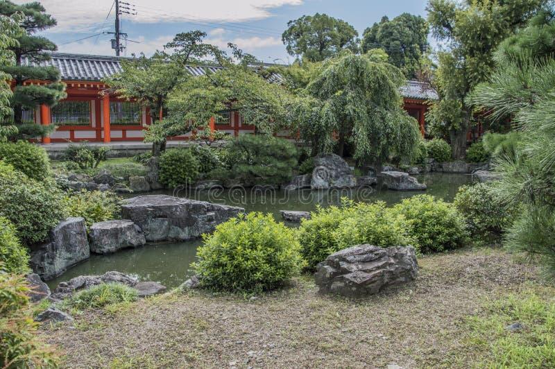 Zen Garden At The Sanjuusangendoo Temple Kyoto Japan. Zen Garden Sanjuugendoo Temple Kyoto Japan 2015 royalty free stock image