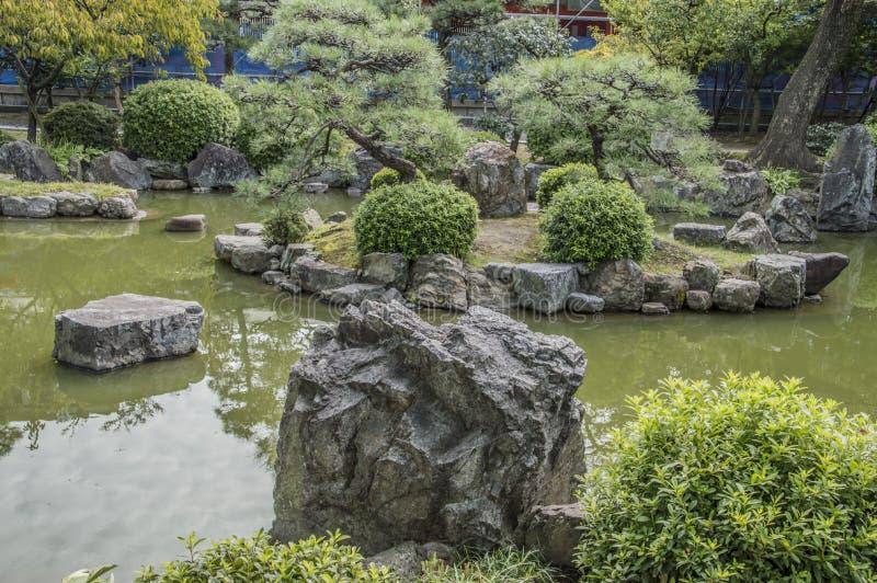 Zen Garden At The Sanjuusangendoo Temple Kyoto Japan. Zen Garden Sanjuugendoo Temple Kyoto Japan 2015 royalty free stock photography