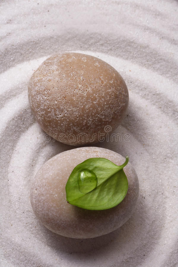 Zen garden stone royalty free stock photo