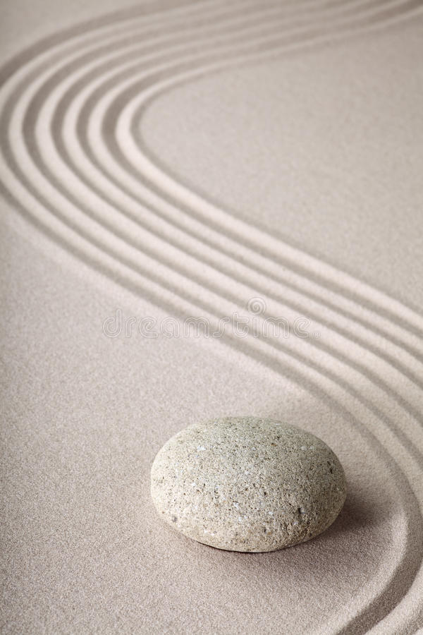 Free Zen Garden Stone And Sand Pattern Tranquil Relax Royalty Free Stock Image - 21680326