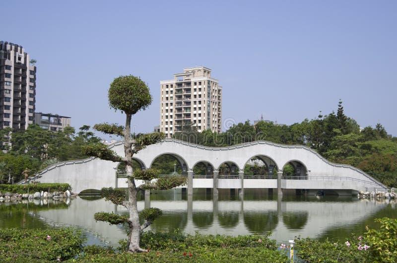 Zen garden in Taiwan stock images