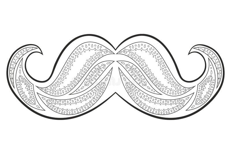 Zen gmatwaniny wąsy wektor Zentangle bokobrody książkowa kolorowa kolorystyki grafiki ilustracja royalty ilustracja