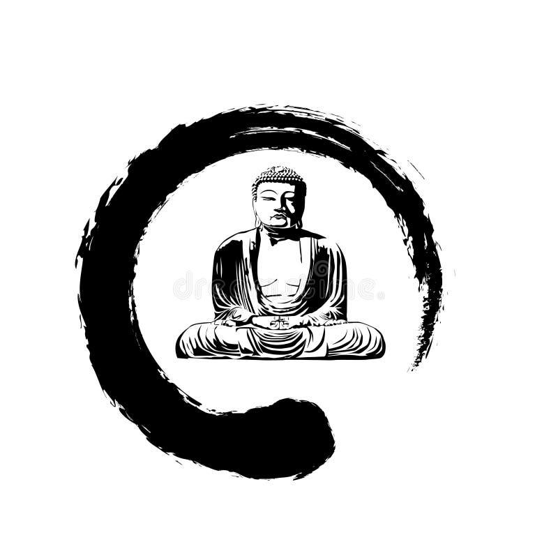Zen grande buddha ilustração stock