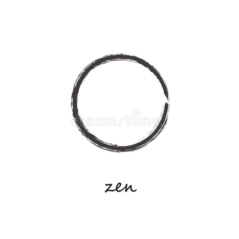 Zen Hand Painted Symbol royaltyfri illustrationer