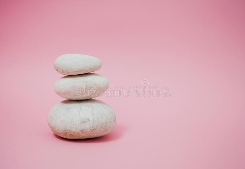 Zen Harmony Meditation. Stacked of stone, spa lifestyle, with space for message stock images