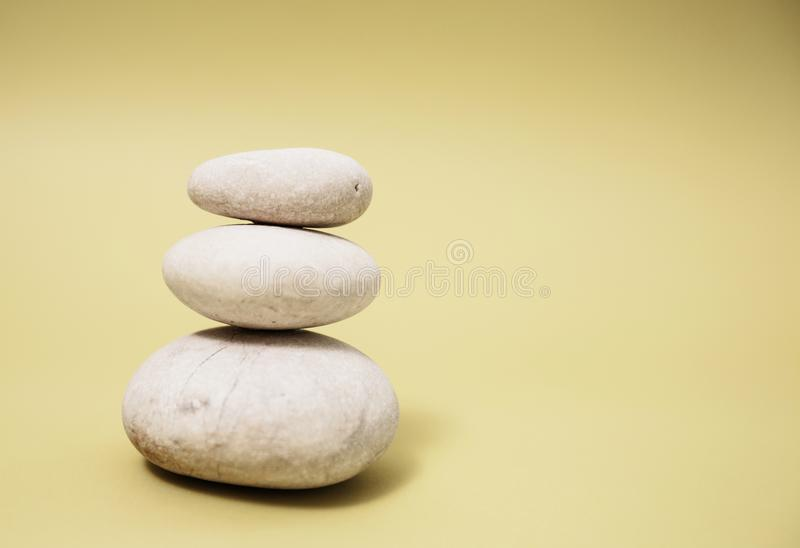 Zen Harmony Meditation. Stacked of stone, spa lifestyle, with space for message stock image