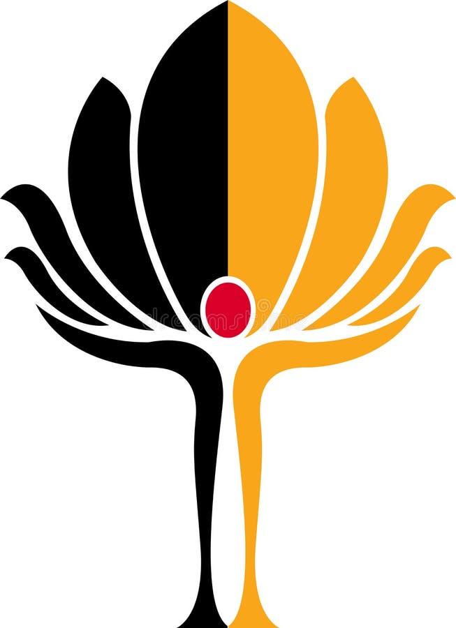 Zen logo. Illustration art of a zen logo with isolated background royalty free illustration