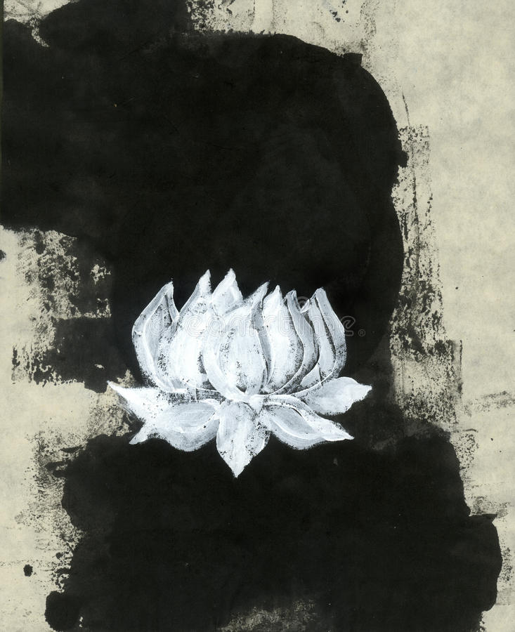 Download Zen Lotus Flower stock illustration. Image of mixed, pure - 26611465
