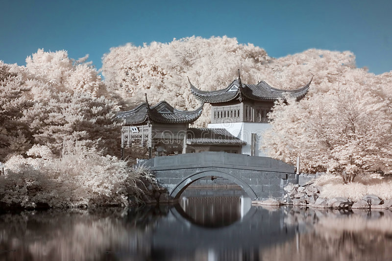 Zen Master's hideout royalty free stock image