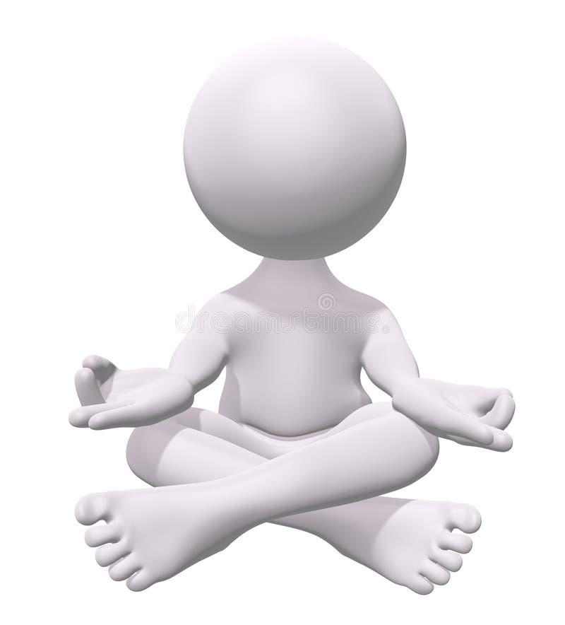 Zen meditation royalty free stock photography