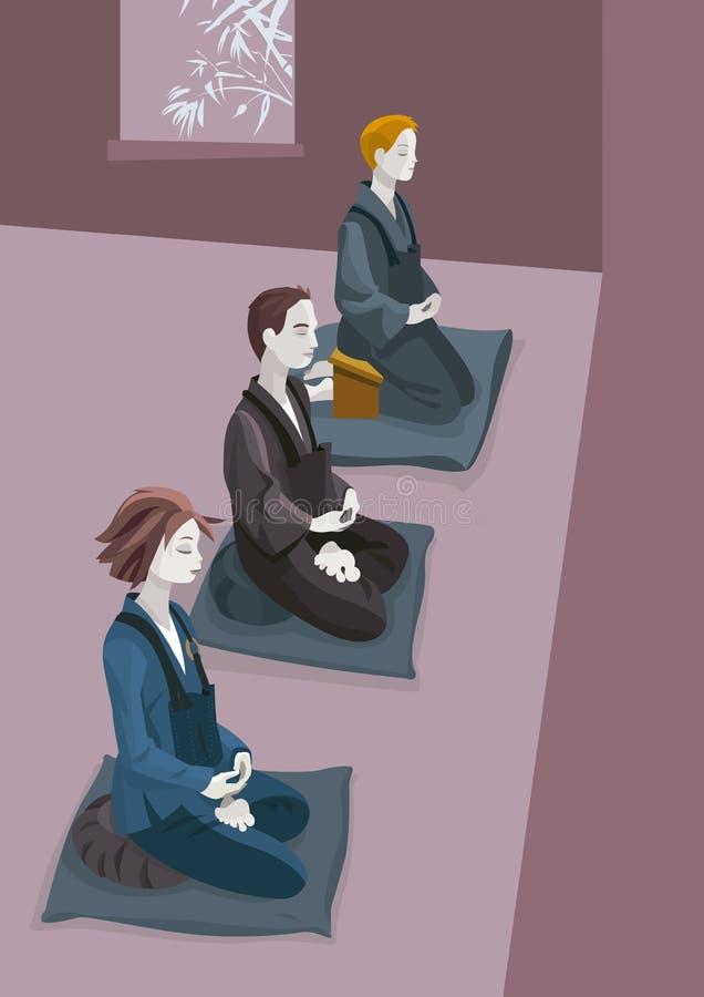 Zen Meditation illustration libre de droits