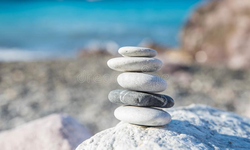 Zen meditation balance stones. Zen rocks for meditation. Being at peace using beginners mind stock images
