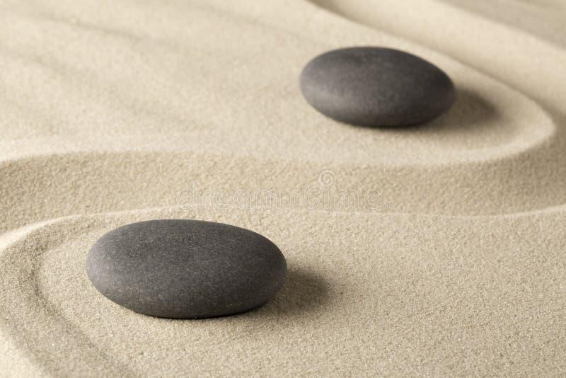 Zen meditation stone background stock photos