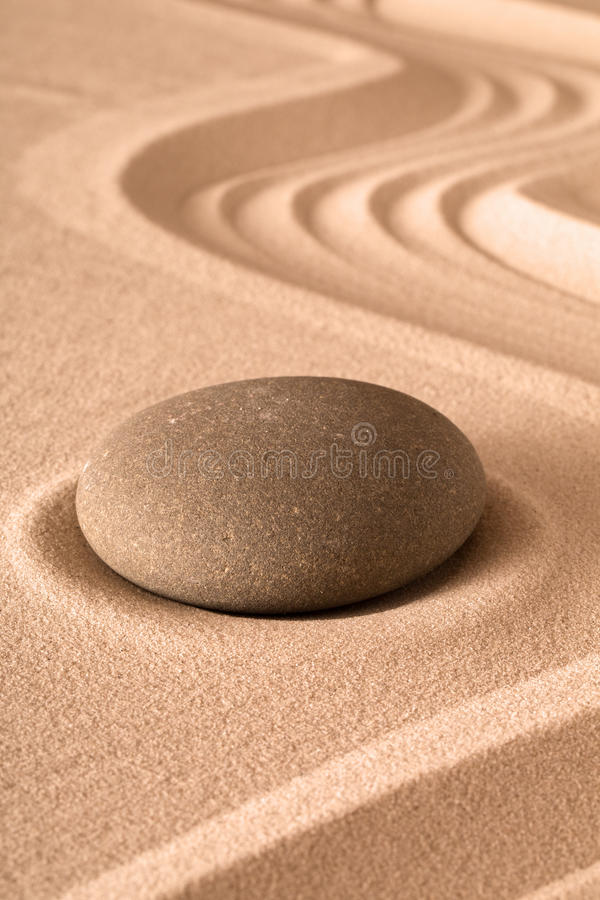 Zen medytaci ogrodowy tło fotografia stock
