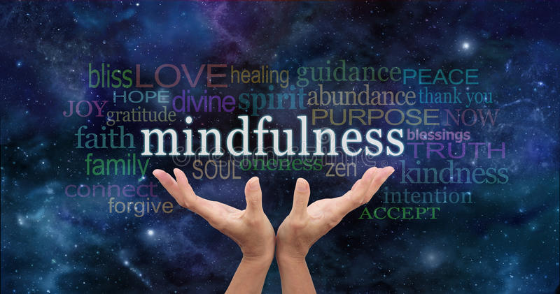 Zen Mindfulness Meditation royalty-vrije stock afbeelding