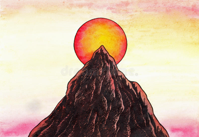 Zen Mountain (Zen Pictures, 2011) royalty free stock photography
