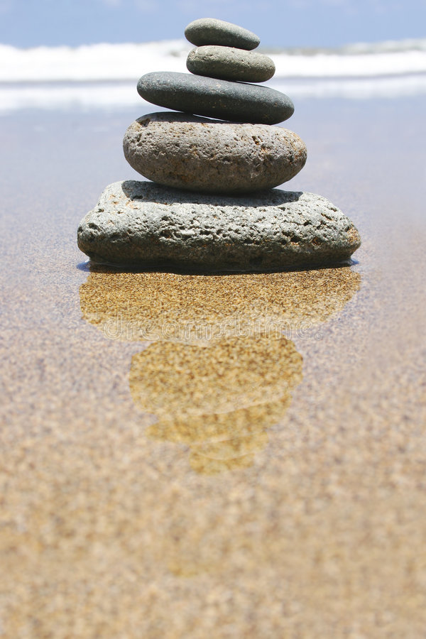 zen na plaży zdjęcie royalty free