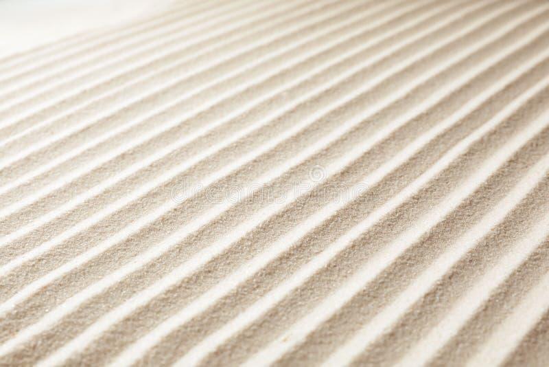 Zen ogródu wzór na piasku obraz stock