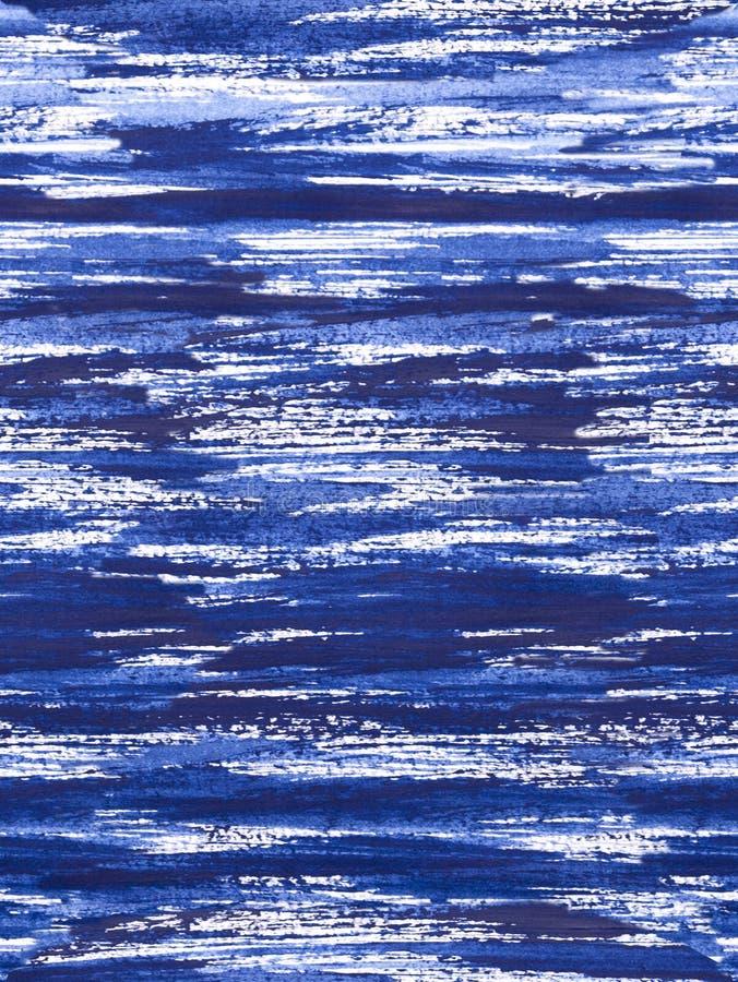 Zen okręgu wzór - błękitne kojące smugi obraz stock
