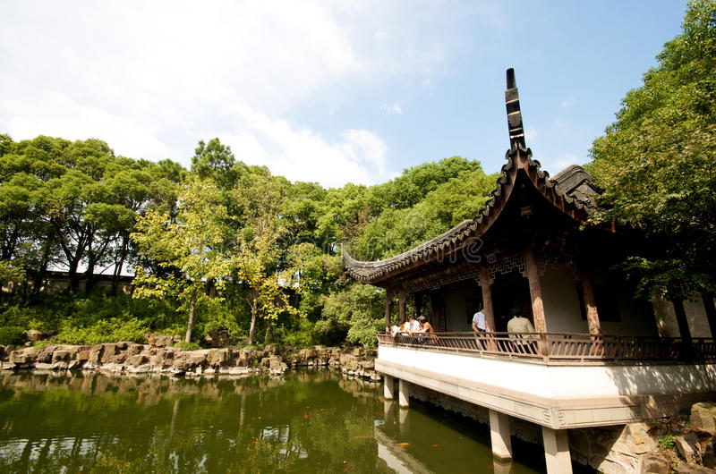 Zen Pagoda On Water In Suzhou Royalty Free Stock Photography