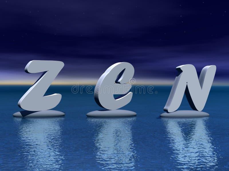 Zen par nuit illustration stock