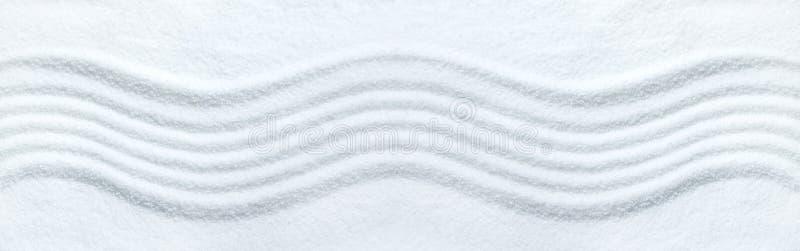 Zen pattern. Zen wave pattern in white sand royalty free stock images
