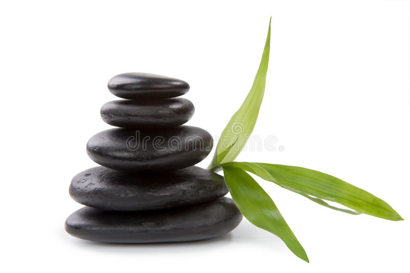 Zen pebbles. Stone spa care concept. stock photo